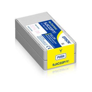 Cartucho tinta amarillo EPSON TM C3500 SJIC22P(Y)
