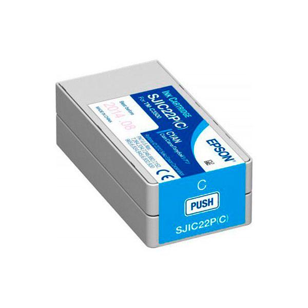 Cartucho tinta cyan EPSON TM C3500 SJIC22P(C)