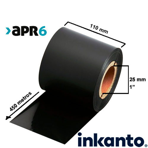 Ribbon Mixto Cera/Resina Premium APR6 110x450
