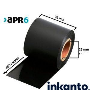 Ribbon Mixto Cera/Resina Premium APR6 76x450