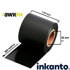Ribbon cera premium AWX FH 110x360