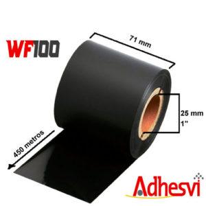 Ribbon Cera Estándar WF100 71x450